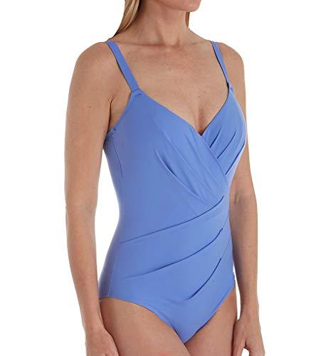 Empreinte Women's Body Underwire Asymmetrical Convertible 1PC Swim VN-Body 38E Myosotis