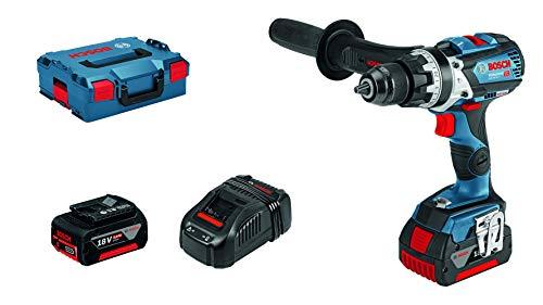 Bosch Professional GSB 18 V-85 C Accu-boorhamer, 2 x 5,0 Ah batterijen, 18 V, robuust, in L-BOXX)