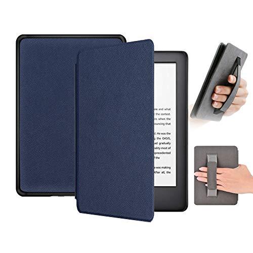 FSCOVER Funda Carcasa para Nuevo Kindle (10th Generation 2019 Release), Estuche de Cuero Ultra Delgado y Liviano Voltear Case Smart Cover para Amazon Kindle 2019, Azul Oscuro