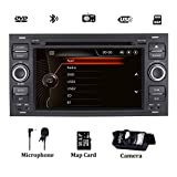 Autoradio stereo per Ford Fiesta 2005 Kuga 2008-2011 S-Max 2007-2009 Navigatore satellitare con lettore DVD Navigazione GPS Controllo del volante Bluetooth 1080P Video Touch Screen