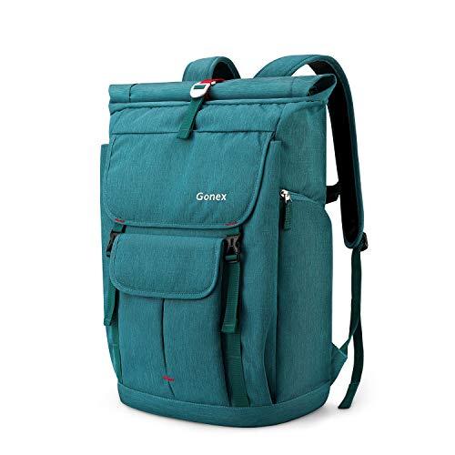 Gonex 35L Laptop Rucksack Laptoprucksack Notebook Wasserabweisende Schultasche mit Mehreren Taschen für Arbeit Business Schule Reisen Wandern Camping - Blau (Pfauenblau)