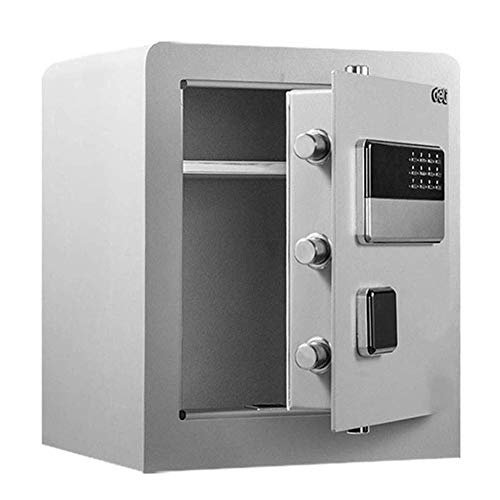 Password Safe Household Small Safe Office Full Steel Intelligent Anti-Theft Safe Deposit Box (Color : B)
