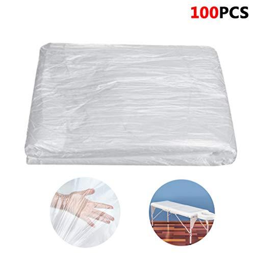 SQYX einwegbettlaken Rolle massageliegen,einweg bettlaken vlisstoff,100 Blatt ideal für öffentliche Bäder,Massagetische Bett,Tattoo,Hotels (100PCS)