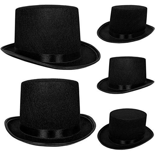 Lowest Prices! Top Hat Black Felt | One Size Magician Hat Costume | DIY, Black, Size One Size