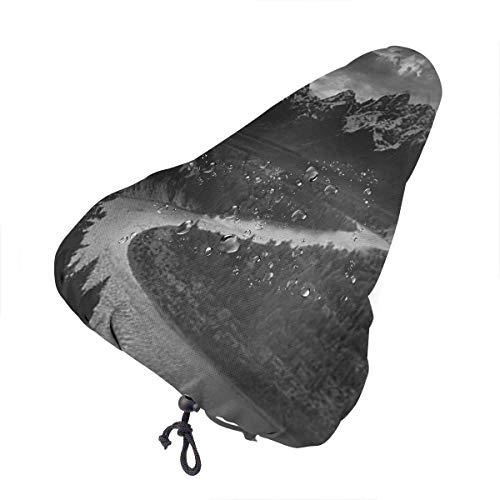 LYMT Coprisedile per Bici Mountain Ansel Adams The Tetons Snake Water Coprisedile per Biciclette Coulisse, Sella Bici Resistente a Sole/Acqua/Polvere
