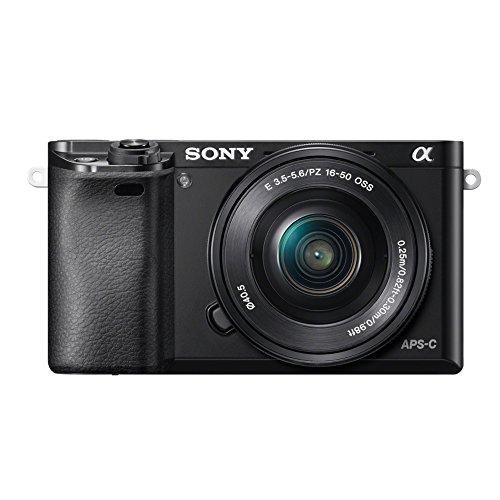 Sony Alpha 6000 - Funda para Sony Alpha 6000 (Incluye Tarjeta SD de 4 GB y Bolsa), Color Negro