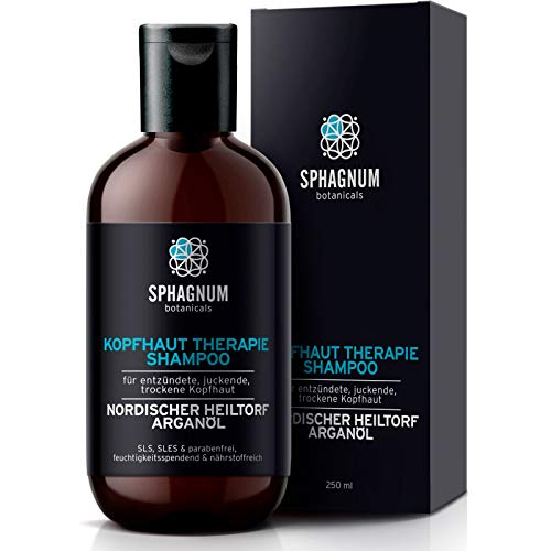 Natürliches Shampoo gegen Schuppenflechte – Haarshampoo Heiltorfbehandlung bei Dermatitis, Ekzem und juckender Kopfhaut Tiefenbefeuchtung & Reinigung mit Arganöl 100% frei von Steinkohlenteer…