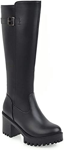 CN botas Cálidas de Invierno botas Largas para mujer Gruesas con botas de mujer blancoas botas 34-39