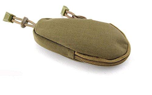Kingken Mini Portable Outdoor tactique étanche Keychain Porte monnaie Pochette