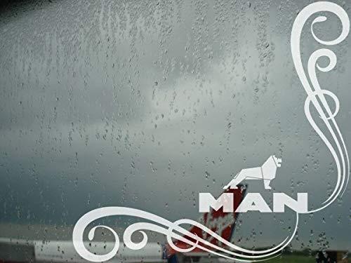 myrockshirt 2X Man Löwe Seitenscheibe Tribal ca 27 cm Aufkleber,Sticker,Decal,Autoaufkleber,UV&Waschanlagenfest,Profi-Qualität
