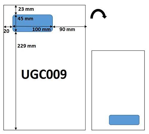 500 feuilles de papier avec étiquette intégrée pour facturation via Seller central Amazon - Etiquette adresse longue étiquette grand format 110 x 45 mm pour préparation et livraison Amazon
