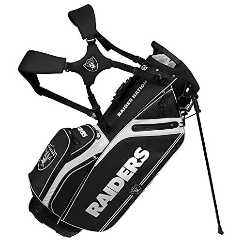 Las Vegas Raiders Caddie Carry Hybrid Golf Bag