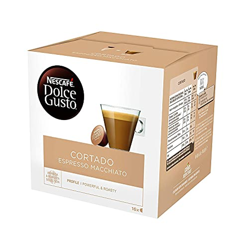 Dolce Gusto - Coffee Capsules, Cortado Espresso Macchiato, 1.86 Oz., (Pack of 3)