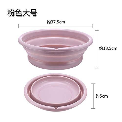 Limmc Opvouwbare kunststof wastafel, compressie thuis, inklapbaar, uittrekbaar, wastafel, reis, draagbaar, milieuvriendelijk, ondoorzichtig, 38 cm, roze L 37,5 x 13,5 cm