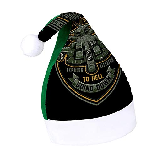 Express Elevator to Hell Aliens Adult Sparkling Green elf Christmas hat Holiday Secret Santa Christmas Ornaments