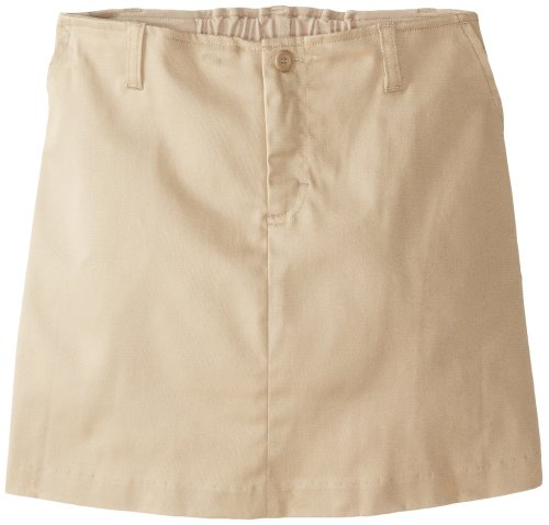 Classroom Big Girls' Stretch Fly Front Scooter Printed Skirt, Khaki, 10