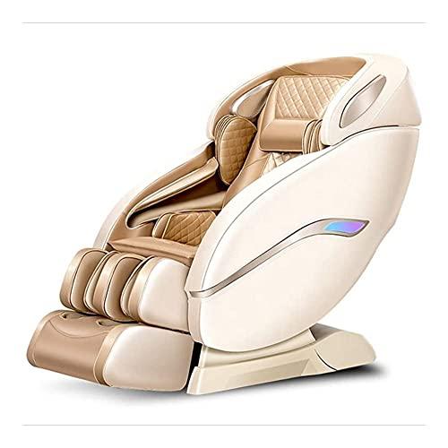 PIAOLIGN Silla de masaje eléctrica de cuerpo completo, silla de masaje de lujo, para el hogar, inteligente, multifunción, automático, órbita SL, sofá de ancianos (color: oro) (color: oro) (color: oro)