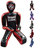 Ring to Cage Youth or Adult Deluxe MMA Grappling Jiu Jitsu Ground & Pound Dummy 3.0 (Adult-Black/Red)