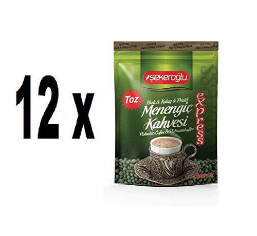 Ablamshop /12 x 200gr .Türkischer Kaffee Menengic Kaffee Pistazien Kaffee Menengic Kahvesi Citlembik 100% Organisch Ottoman Coffee 200 gramm Osmanli Kahvesi 12 stück 200gr. (TOTAL 2400gramm)