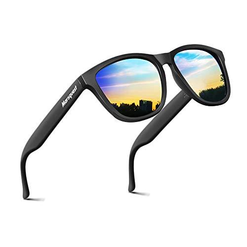 MARSQUEST Sonnenbrille Polarisiert - Original UV400 Modell Newton Unisex Sonnenbrille, Farben, Verspiegelt, UV-Schutz, Leicht, Stoßfest, Kratzfest Sonnenbrille für Herren und Damen