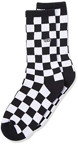 Vans Checkerboard Crew Boys (1-6, 1PK) Calcetines, BLACK-WHITE CHECK, Talla única Unisex niños