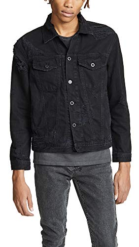 Diesel Men's D-Hill Denim Jacket, Black Denim, Medium