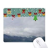 青い空と白い雲 ゲーム用スライドゴムのマウスパッドクリスマス