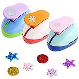 Perforadora de papel - Miotlsy 3 unidades, juego de troqueladoras de papel, para niños, manualidades, álbumes de fotos, manualidades