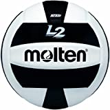 Molten Premium Competition L2 - Balón de Voleibol, Color Negro/Blanco, tamaño Official Size