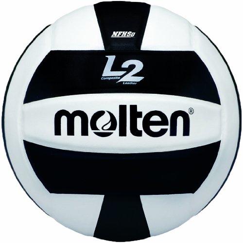 Molten Premium Competition L2Volleyball, NFHS zugelassen, Unisex, schwarz/weiß