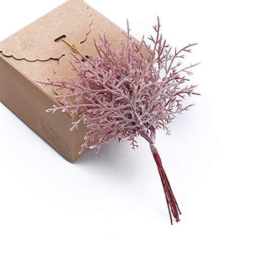 SSSSY 10 stuks veelkleurige kerstboom decoratieve bloemen kransen bruiloft vaas voor hoofddecoratie DIY geschenkdoos kunstmatige planten groothandel