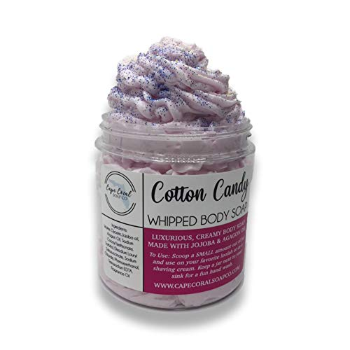Cotton Candy Scented Whipped Body Wash - 4 Ounce Luxurious Body Frosting - Foaming Body Wash