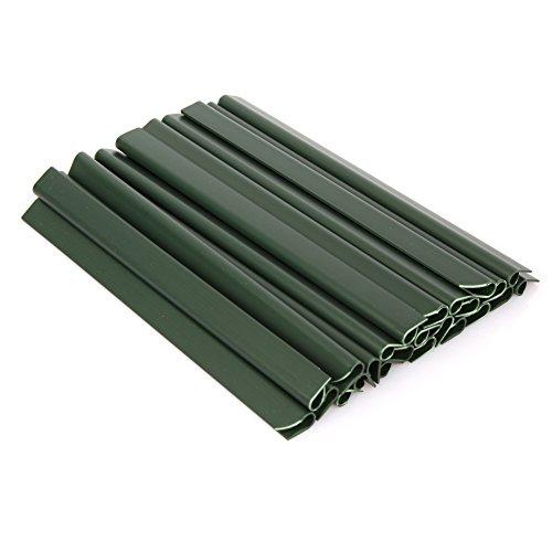 Dazone 24 Stück PVC Sichtschutzstreifen Befestigungsclips Sichtschutz Klemmstreifen zur Befestigung (Grün)