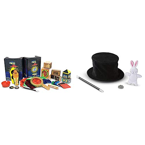 Melissa & Doug Deluxe Magic Set & Magic in a Snap - Magician's Pop-Up Magical Hat with Tricks