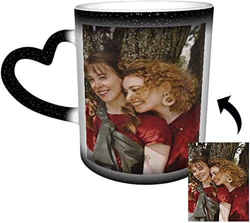 Personalisierte Geschenke,Tasse Personalisiert für Gedenk Geschenke für Paare und Familie, Schwarz Fototasse Kaffeetassen