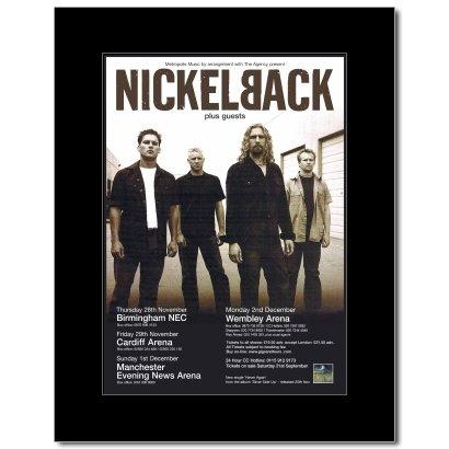 Music Ad World Nickelback - UK Tour 2002 Mini Poster - 28.5x21cm