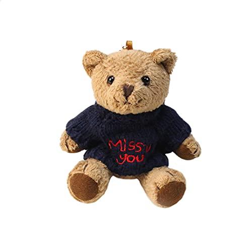 LYTEDB Portachiavi in Peluche, Simpatico Cartone Animato Animale Giocattolo Ciondolo Zaino Maglione Creativo Arti dell'orso Orso Peluche