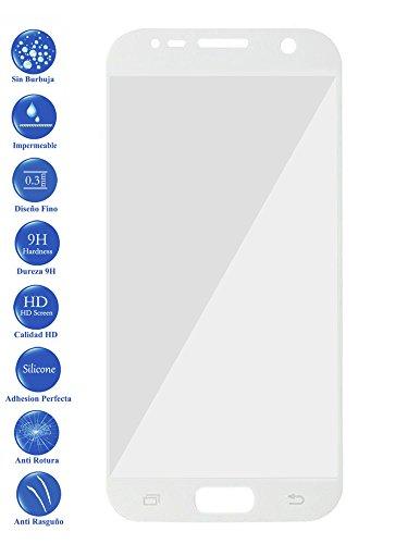 Todotumovil Protector de Pantalla Samsung Galaxy S7 Blanco Completo 3D Cristal Templado Vidrio Curvo para movil
