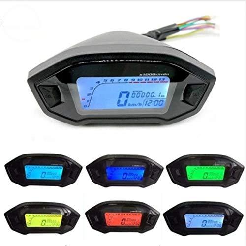 SHIJING motorfiets LCD Digital 13000rpm snelheidsmeter achtergrondverlichting motorfiets 2-4 cilinder instrument kilometerteller