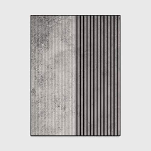 Shaggy Teppiche Moderner Minimalist Alten Schwarzweiß gestreifte Stitching Teppiche Boden Teppichboden für Schlafzimmer Wohnzimmer Kind-Raum-Dekor (160 * 230cm),40 * 120cm
