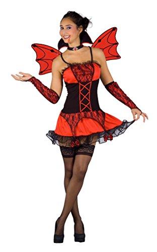 Paolo-bloemen Vampirella Burlesque kostuum volwassenen, rood, M, 26702