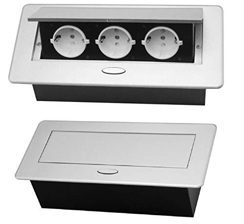 M59 - Einbausteckdose in silber oder schwarz (silber)