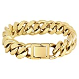 KRKC & CO keep real keep champion 18K Gold / White Gold Plated acero inoxidable