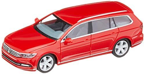 herpa Volkswagen VW Passat Variant, tornado in miniatura rossa per la collezione di imbarcazioni e come regalo, Colore Tornadorot, 028424-003