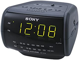 Sony ICF-C112 FM/AM Clock Radio with Full Power Back-up (Black) (Discontinued by Manufacturer)
