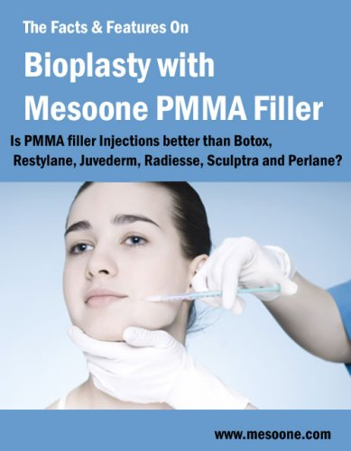 The Facts & Features On Bioplasty with Mesoone PMMA Filler. Is PMMA filler Injection better than Botox, Restylane, Juvederm? (English Edition)