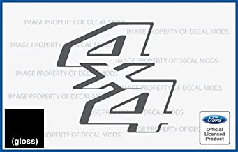 Decal Mods 4x4 Decals Stickers for Ford F250 F350 F450 Super Duty (2011-2016) - CB (Black (Gloss))