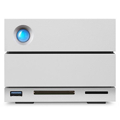 LaCie 2big Dock RAID 12TB External RAID Hard Drive HDD with SD Card CF Card Slots, for Mac and PC Desktop Data Redundancy Thunderbolt 3 USB-C USB 3.0, 1 Month Adobe CC, Data Recovery (STGB12000400)