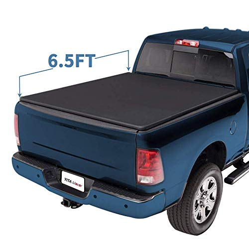 YITAMOTOR Soft Roll Up Compatible with 2009-2018 Dodge Ram 1500 | 2019 Classic Only, 2003-2018 Dodge Ram 2500 3500 6.5 FT Truck Bed Tonneau Cover