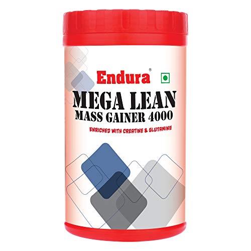 Endura Mega Lean Mass Enriched with Creatine & Glutamine | Mass Gainer | Lean Gainer | 42 g. Carbohydrate, (400 g)